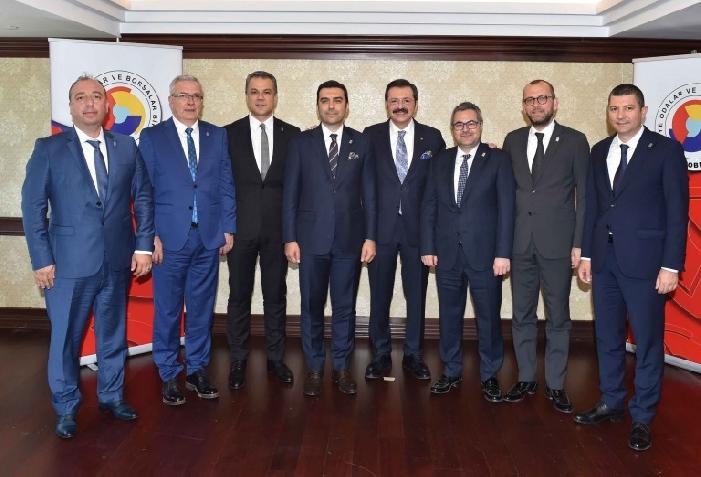Visit to Hisarcıklıoğlu from Balıkesir Provincial and District Chambers